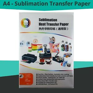 100-Sheets-Quality-A4-Dye-Sublimation-Paper-Desktop-Inkjet-Printer-Heat-Transfer