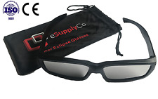 Plastic Solar Eclipse Glasses - Carrying Case Included - CE & ISO Certified!
