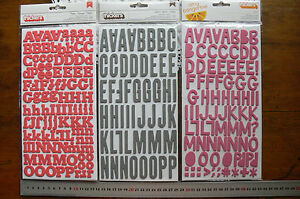 FOAM-Thicker-Stickers-CORAL-GREY-PINK-3-Styles-Varied-Size-15-40mm-AC-Multi