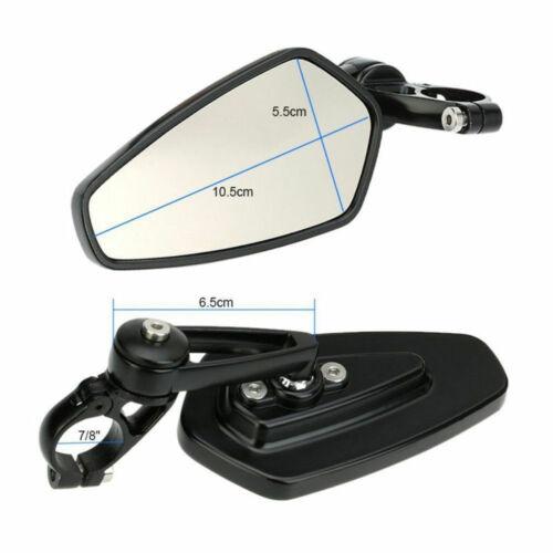 "2x Rear View Mirrors for Honda Kawasaki Suzuki Yamaha CNC 7//8/"" Bar End Universal"