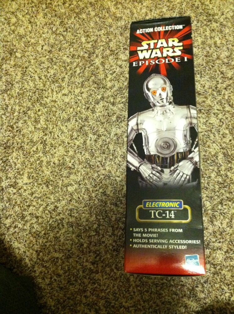 Hasbro Star Wars Wars Wars 1 6 scale 12  EPISODE I ELECTRONIC TC-14 PredOCOL DROID RARE 428de7