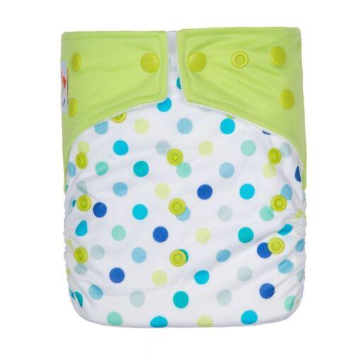2 MICROFIBER INSERTS BOYS GIRLS KAWAII BABY PRINTED CLOTH DIAPER SNAP CLOSURE