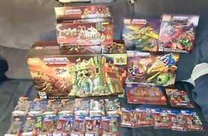 Mega-Bloks-Construx-Masters-of-the-Universe-MotU-Super-Huge-Lot-26-Items-NEW