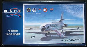 MACH-2-GP023-SE-210-CARAVELLE-III-VI-R-1-72-Flugzeug-Modellbausatz-Kit