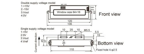 YHDC Hall split core current sensor HST6416 500-2000A//4V 1/%