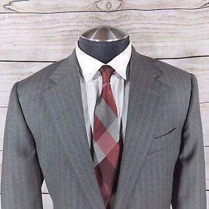 2dc68aae7 Carroll & Co Hickey Freeman Loro Piana Tasmanian Wool Sz 42 L Gray ...