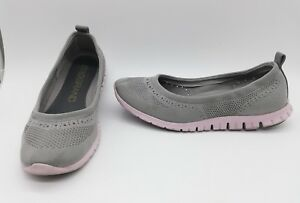 5 Zerogrand 9 Shoes Ballet Gray Cole Flat Sz Haan Stitchlite Women TqvRx6W4wf