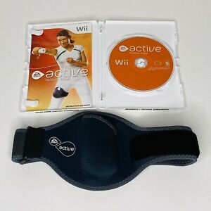 Nintendo-Wii-EA-Sports-Active-Personal-Trainer-Complete-W-Game-Leg-Strap-Band