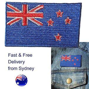 New Zealand NZ flag iron on patch Kiwi Aotearoa flags iron-on