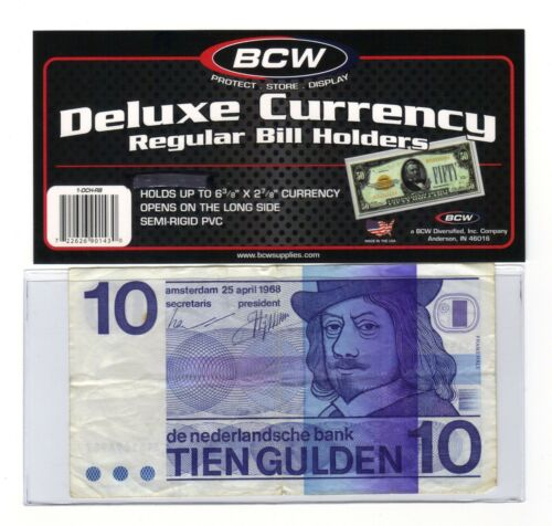 *10 DELUXE CURRENCY SLEEVES HOLDERS-REGULAR BANKNOTES*Lot Jn2*