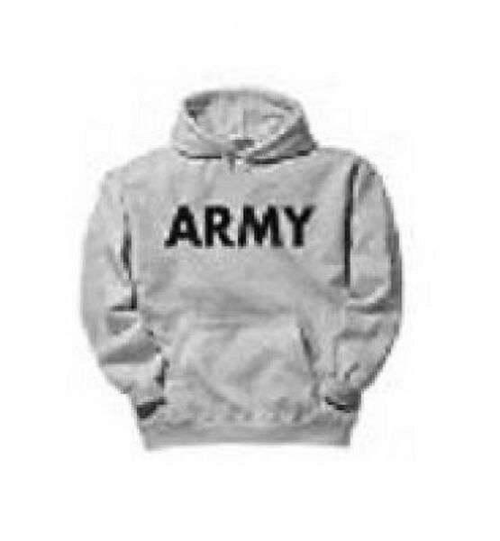 ARMY Hoodie Kapuzen Sport US Hoodie Kapuzenshirt Sweatshirt Sportshirt grau grey