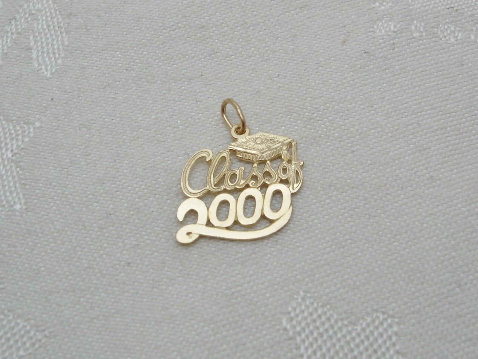 Class of 2000   14k Solid Yellow gold Charm or Pendant Graduation N15-J