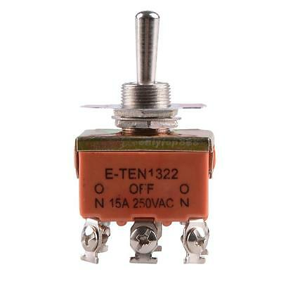 1Pc Red 6-Pin Toggle DPDT ON-OFF-ON Switch 15A 250V Mini Switches E-TEN1321 OT8G