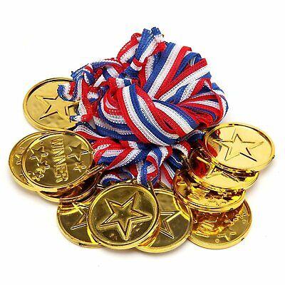 2019 Nuovo Stile 48 Medaglie D'oro In Plastica Vincitore Collane Sports Giorno Awards Star Classe Kids- Guidare Un Commercio Ruggente
