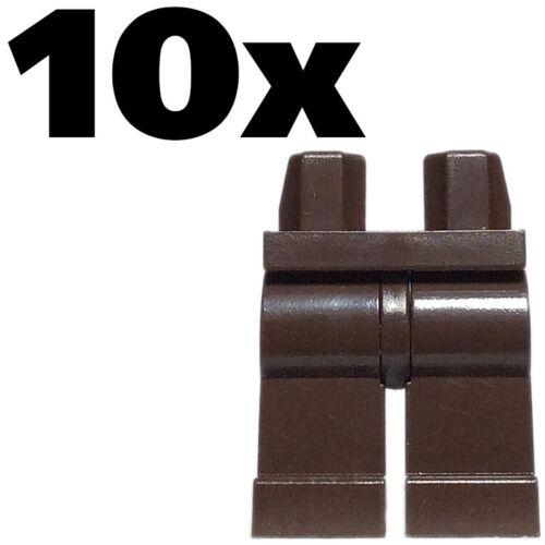 NEW Lego Figure Legs LEGO regular leg Solo Poe plain Brown Dark Pants x 10