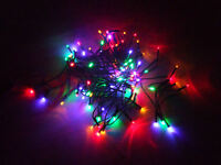 Farbige Lichterkette Mit 80 Led - Bunt - Mit Controller Und Speicher - Außen