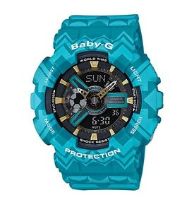 Casio-Baby-G-BA110TP-2A-Anadigi-Tribal-Pattern-Blue-COD-PayPal-Ivanandsophia