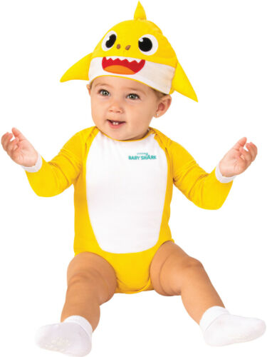 Baby Shark Yellow One Piece Costume Newborn 0-6 Months