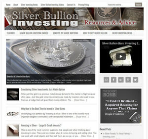 SILVER-INVESTING-affiliate-website-business-for-sale-w-AUTO-CONTENT-UPDATES