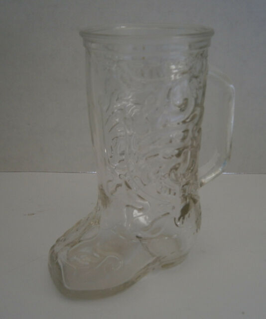 Western Cowboy Boot Clear Glass Mug Ebay