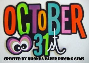 COSTUME CONTEST  title paper piecing for  premade scrapbook page die cut by Rhonda rm613art