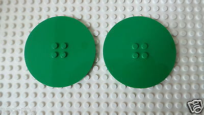 LEGO 4150 ROUND TILE 2x2 LIME GREEN QTY x 15 BRAND NEW PARTS