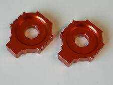 KTM Duke 125 200 390 Alu Kettenspanner Set xp orange NEU!