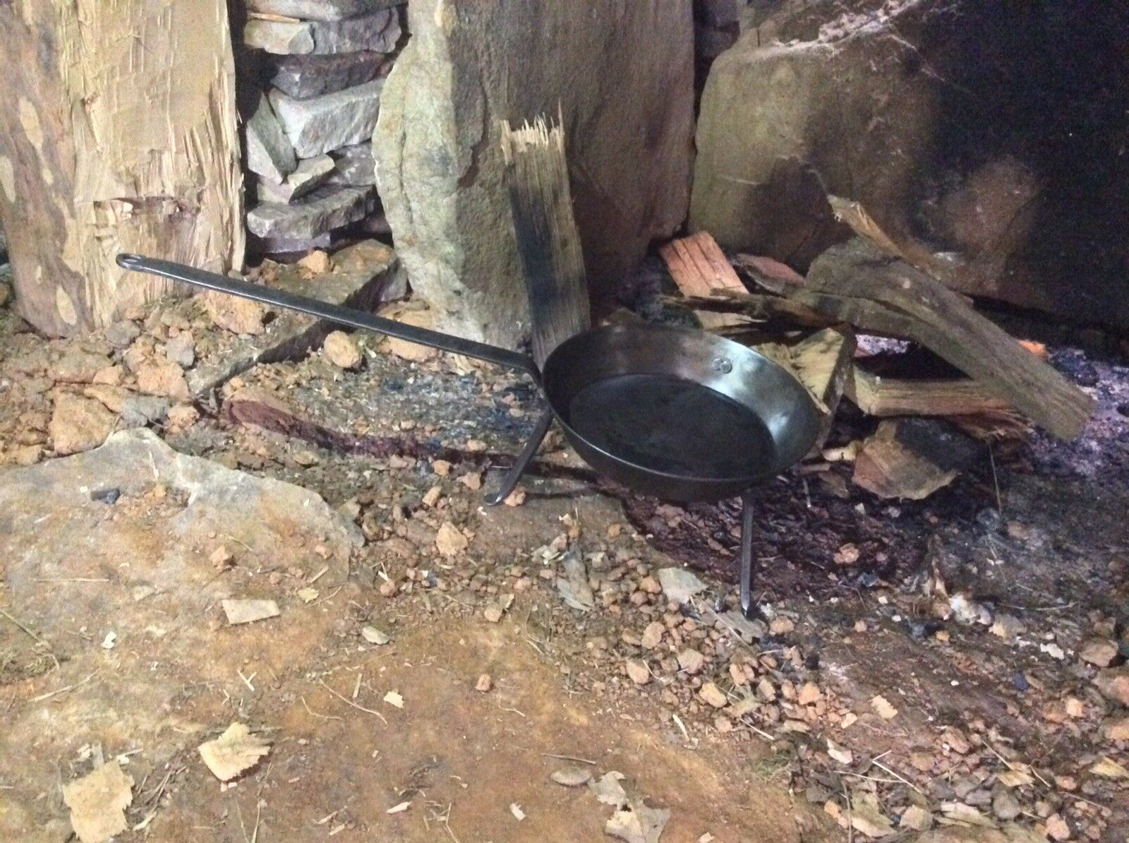Handmade Campfire Spider Frypan With Whitfield Handle
