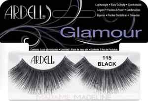 f6dbf7d9912 LOT OF 4) Ardell Glamour 115 False Lashes LONG Black Authentic ...