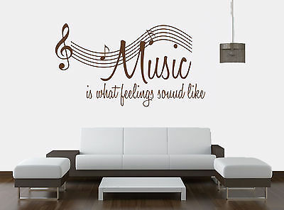 Music Notes Vinyl Wall Art Sticker, Decal, Wall Art Musical Notes (d)