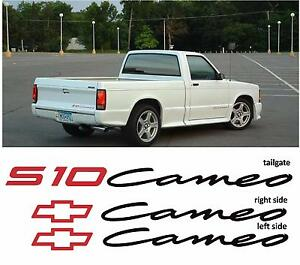 Details about CHEVROLET CHEVY S-10 S10 CAMEO SYCLONE TYPHOON SONOMA GT GMC  SS DECAL STICKERS