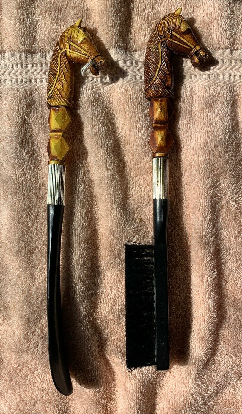 Vintage Horse Themed Brush and Shoe Horn Hong Kong