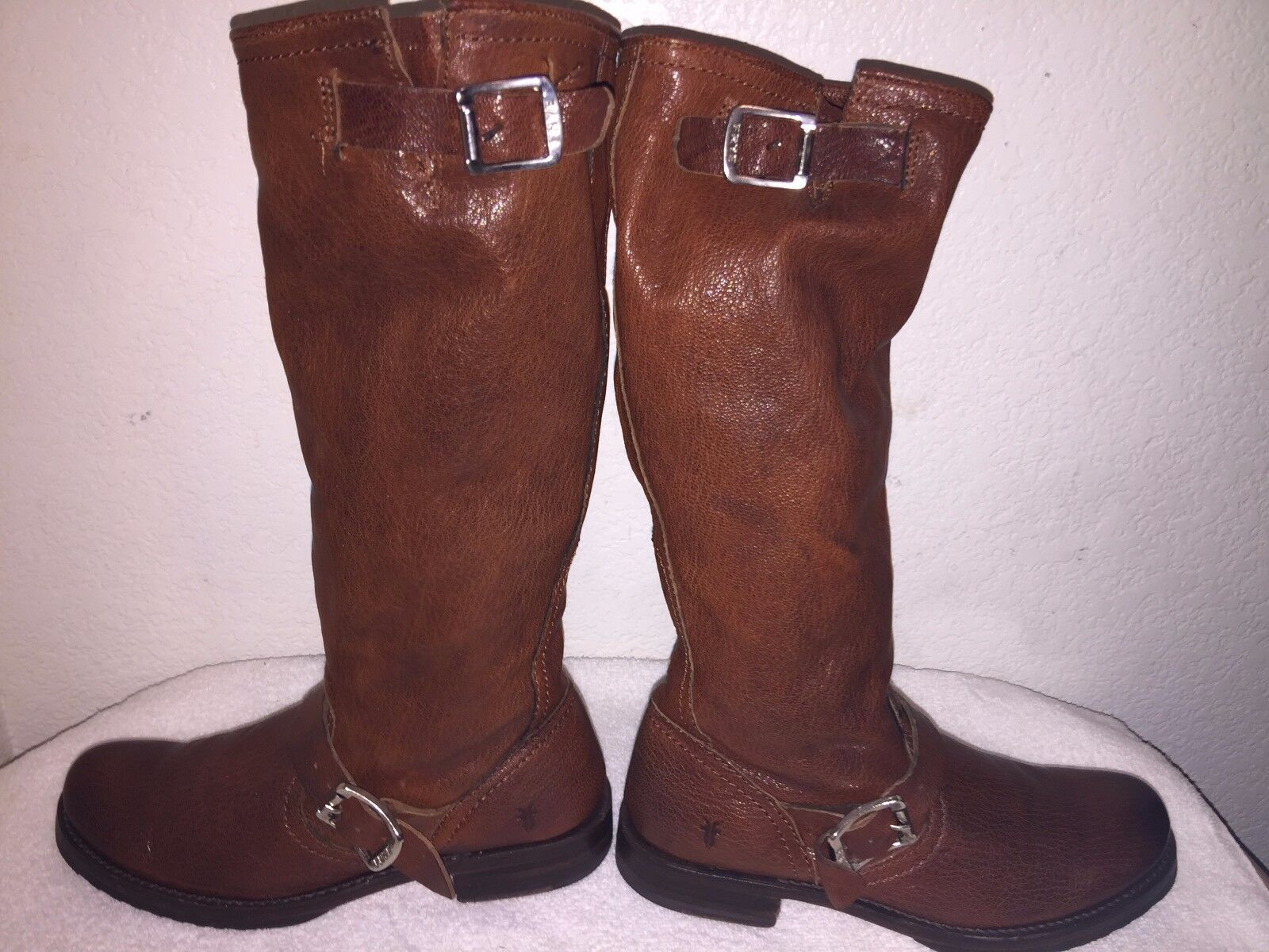 Frye Veronica Brown Leather Women's Boots Size 6.5-B