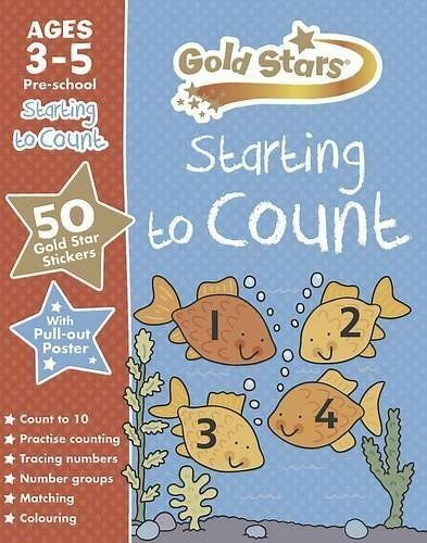Gold Stars Preschool Starting to Count - 3 - 5 Years -  Pre-school Workbook