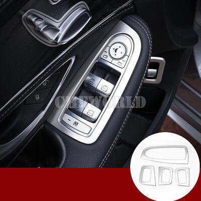 2X Mittelkonsole Knopf Rahmen Abdeckung Blende fit Mercedes Benz C Class W205