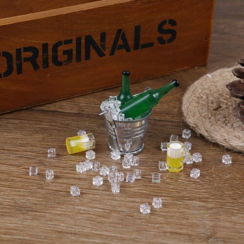 1:12 Dollhouse miniature iced beer set for doll house decoratiW6XI