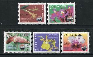 Ecuador-1997-ORCHIDEE-ORCHIDS-FIORI-FLOWERS-FIORI-Blossoms-plants-2365-69-MNH