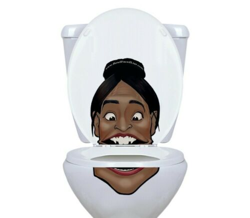 Alexandria Ocasio-Cortez Vinyl Toilet Lid Decal//Sticker set by BowlFacedLiar.com