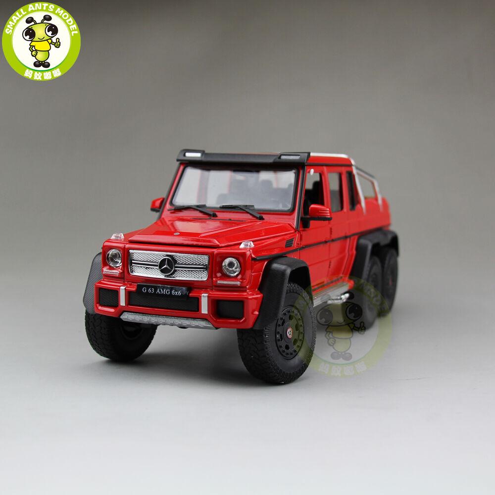 1 24 Mercedes-Benz G 63 G63 AMG 6×6 Welly 24061 Diecast modelo SUV camioneta Rojo