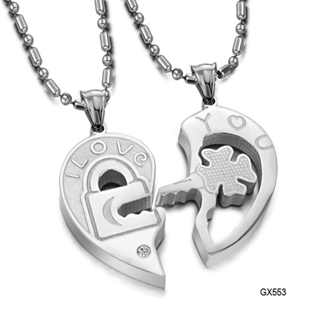 5fca7a8deef30 Fashion Unisex 316l Stainless Steel Love Heart Chain Pendant Necklace Gift  Gx553