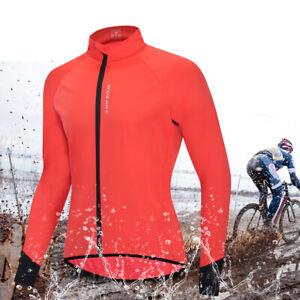 Waterproof Men Long Sleeve Cycling Jersey Bike Wind Rain Coat Off-Road Bike Coat