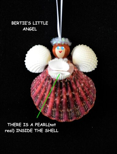 0214..Gems of the SeaOrnament.Bertie's Little Angel.Made in The USA