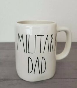 NEW-RAE-DUNN-by-Magenta-MILITARY-DAD-Coffee-Tea-Mug-Farmhouse-Home-Decor