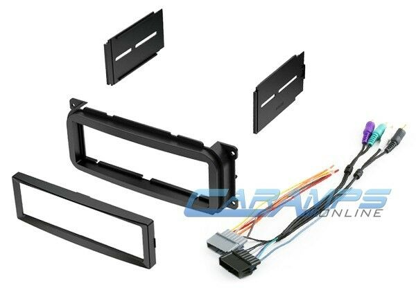 CAR STEREO RADIO CD PLAYER DASH INSTALLATION MOUNTING KIT W/ AMP WIRE HARNESS