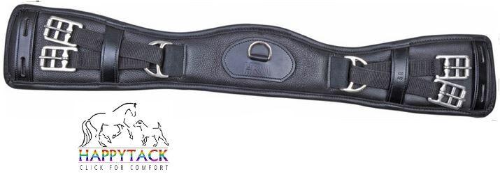 New HKM PADDED LEATHER Humane Dressage ANATOMIC shaped girth nonelasticated 6260