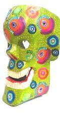 DAY OF THE DEAD HALLOWEEN SKULL MASK = HAND CARVED = GUATEMALAN FOLK ART