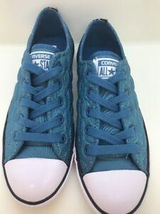 Converse CT Dainty OX Aero Blue Quilted Women Size 6 886955081703  edb2ac98e