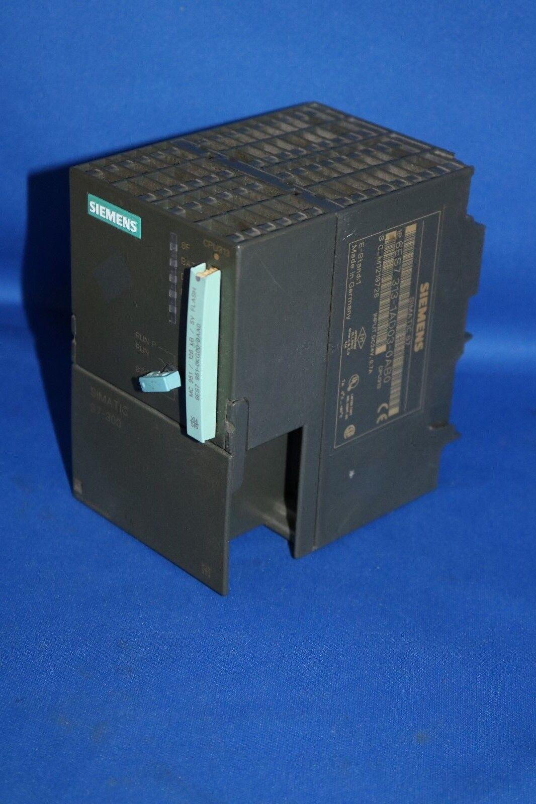 SIEMENS Simatic S7 CPU313 CPU313 6ES7 313-1AD03-0AB0 6ES7313-1AD03-0AB0 128 KB