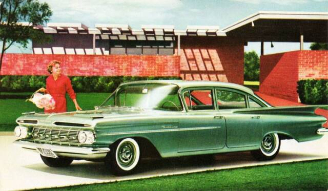 old print. green 1959 chevrolet biscayne 4-door sedan auto | ebay