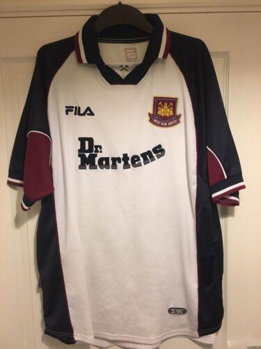 1999 Dr Camiseta Hombre Fútbol 2001 West 2xl Lejos Raro Fila Ham Xxl United Martens De Para zwHzXqr